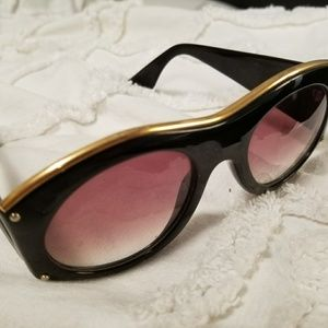 7ab62da12aa Christian Lacroix Accessories - Christian LaCroix Black   Gold Vintage  Sunglasses